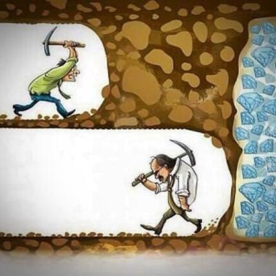 諦める人諦めない人