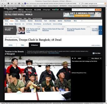 Screen capture of wsj.com(The Wall Street Journal) - 10 April 2010.