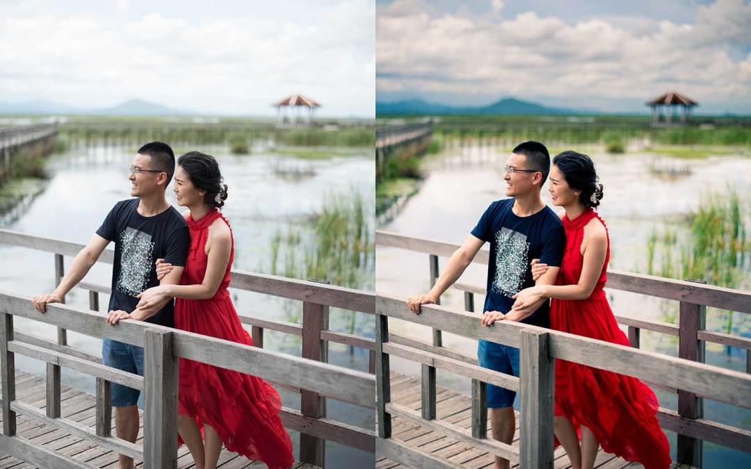 Color Correction Sample | Khao Sam roi Yod Hua Hin Pre-Wedding