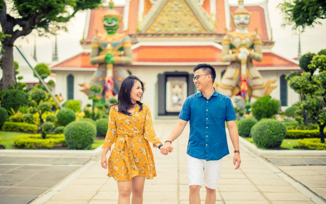 Bangkok Thailand Pre-Wedding | The Grand Palace – Wat Arun Temple – China Town