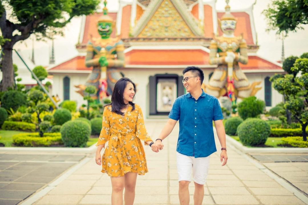 Bangkok Wedding Photography | Thailand Wat Arun Temple Pre-Wedding Photography