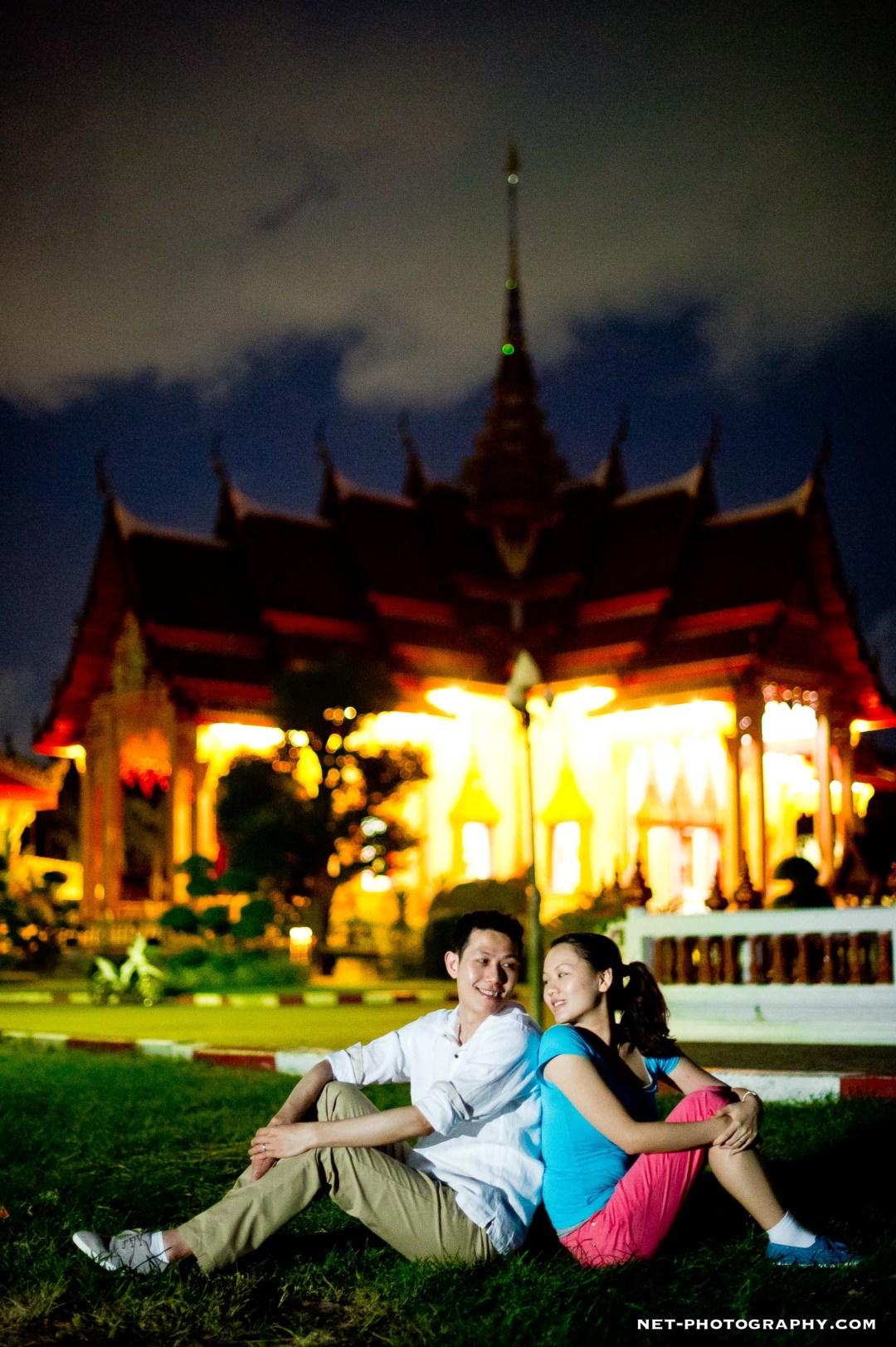 Thailand Phuket Chaithararam Temple Engagement Session