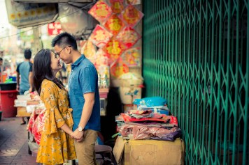 China Town Bangkok Thailand Engagement Photography