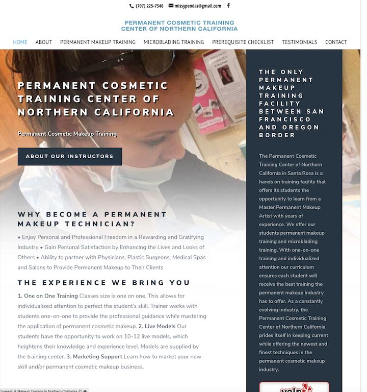 Permanent Cosmetic Training Center Of Northern California