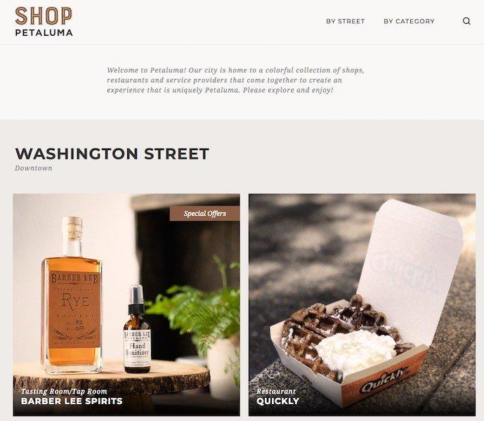 Shop Petaluma Website