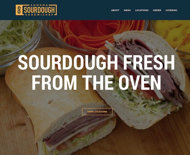 Sonoma Sourdough Sandwiches Home Page