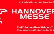 UAB AUTOMATIKOS SISTEMOS - Hannover Messe 2016 dalyvė