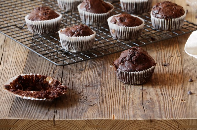 CHOCOLATE LAVENDER MUFFINS