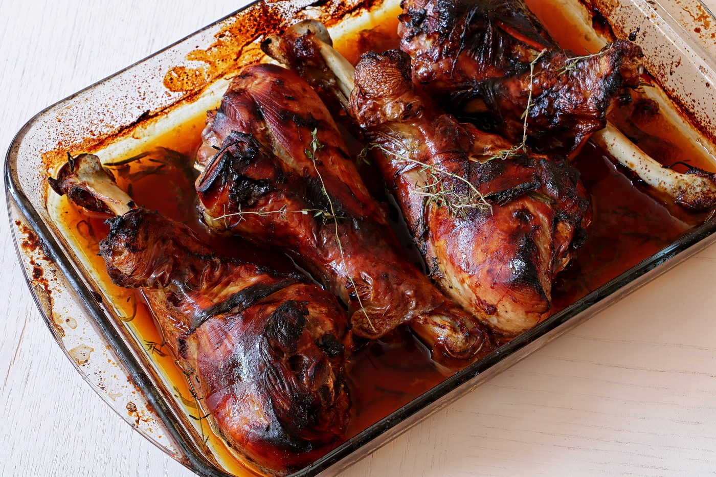 Honey Glaze Turkey Legs a thanksgiving treat