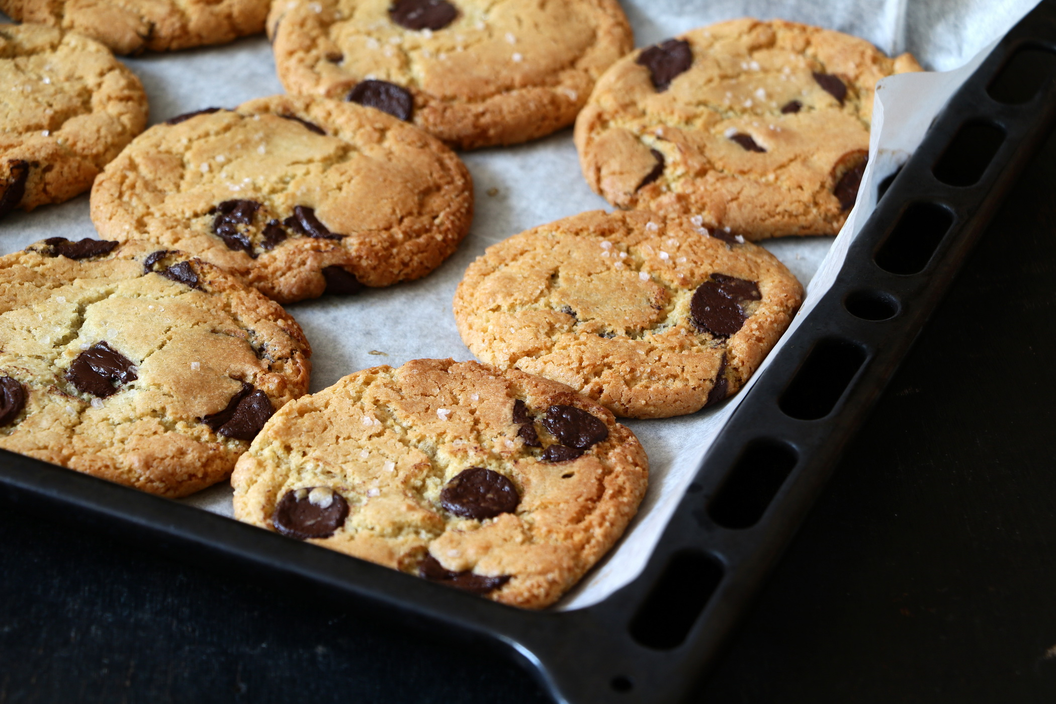 Salted Chocolate Chip Cookies Recipe