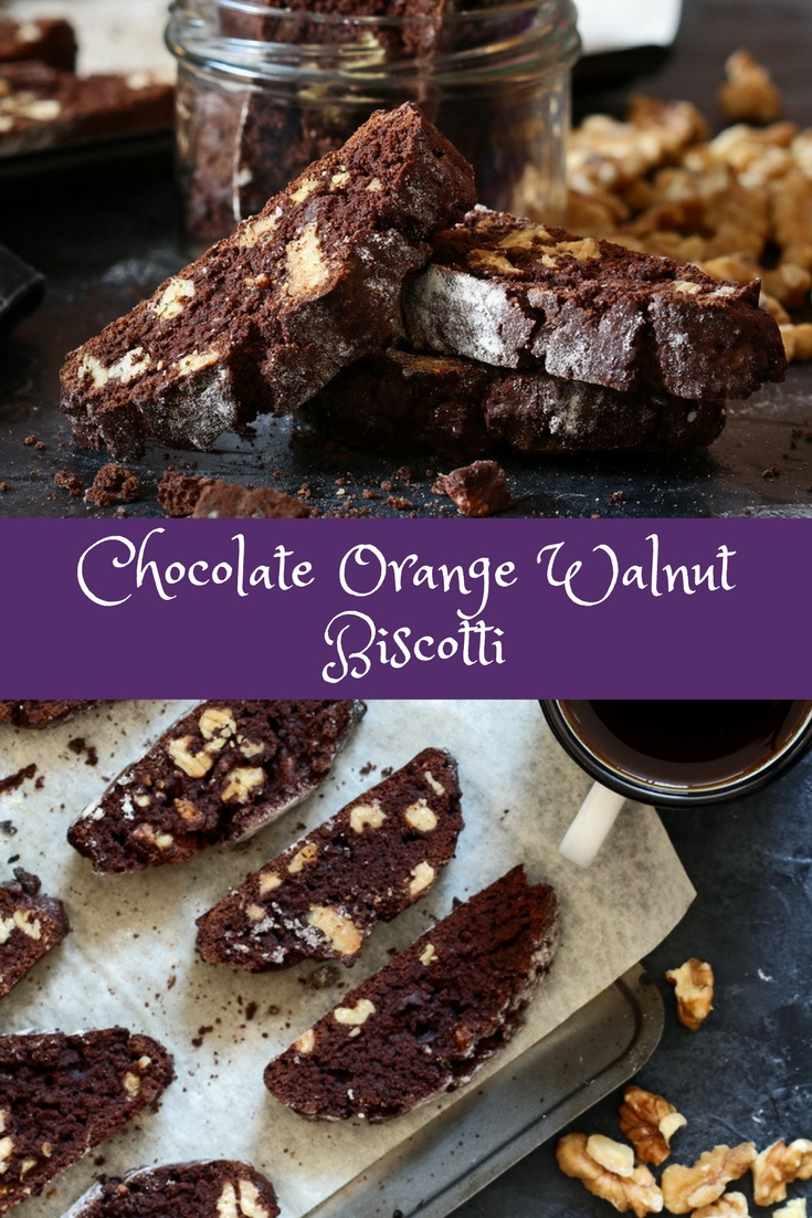 Chocolate Orange Walnut Biscotti