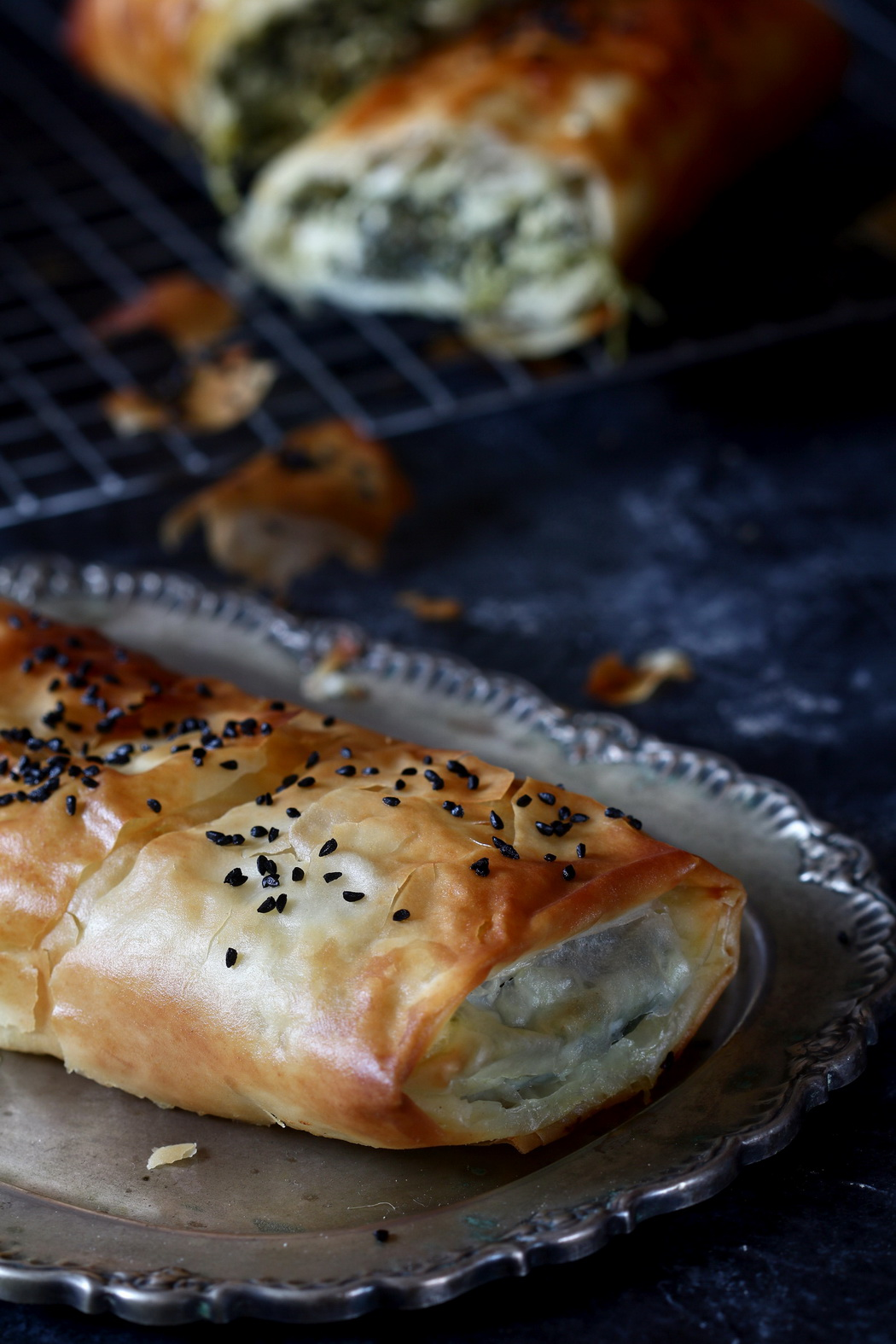 spinach and feta cheese burek pastry