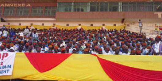 Eux, ils ne sont pas venus pour danser mais pour montrer leur volonté ferme à soutenir le Président Blaise COMPAORE