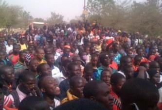 NON-PAIEMENT DES PRESALAIRES DES ELEVES STAGIAIRES DE L'ENS DE KOUDOUGOU: Manifestation de colère des étudiants
