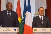 Déclaration conjointe avec Roch Marc Christian Kaboré, président du Burkina Faso