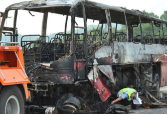 Chine : Un terrible accident de bus fait 35 morts