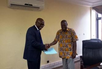 Amélioration des conditions de travail des agents des médias publics : le SYNATIC rencontre le ministre Dandjinou