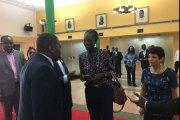 En visite en Côte d'Ivoire, Rama Yade reçue par Guillaume Soro