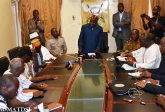 Simon Compaoré rencontre les premiers responsables des Koglwéogo.