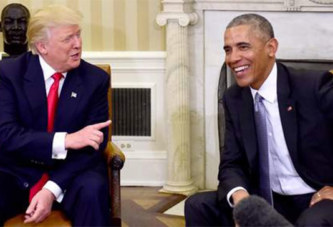 Obama espère que Trump «tiendra tête» à la Russie