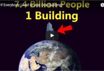 Quelle serait la taille d'un bâtiment capable d'accueillir l'humanité tout entière?