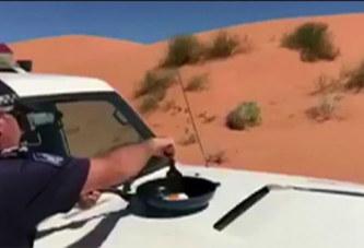 Australie : Grâce aux records de température, ce policier fait cuire un oeuf sur sa voiture (vidéo)