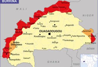 Zones à risque au Burkina Faso: Dori , Djibo et  l'ouest de l'axe routier Bobo-Dioulasso- Banfora-Niangoloko déconseillées par la France