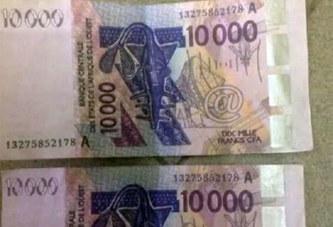 Côte d'Ivoire : Des billets de 10 mille ayant le même numéro servis par une banque
