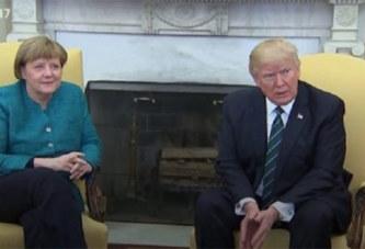 USA: Trump refuse de serrer la main à Angela Merkel. Vidéo