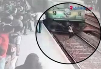 Le casque sur les oreilles, une jeune fille est percutée par un train mais survit miraculeusement (vidéo)
