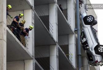 (Vidéo) Accident : Une femme fait une chute libre d'un parking situé au 7e étage avec sa BMW