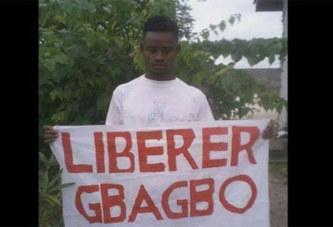 Arrêté avec une banderole de Gbagbo: Le jeune Kouassi Richard condamné à 15 jours de prison