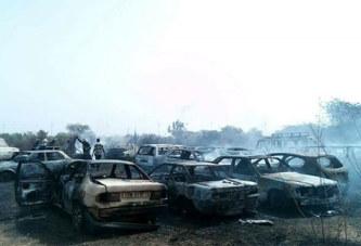 Incendie à la Cour d'appel de Ouaga : Une trentaine de véhicules calcinés