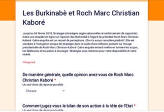 Les Burkinabè et Roch Marc Christian Kaboré