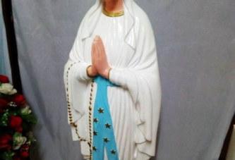 Yopougon: La statue de la vierge Marie d'une paroisse retrouvée dans un caniveau