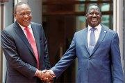 Kenya: réconciliation surprise entre Uhuru Kenyatta et Raïla Odinga
