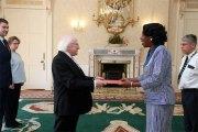 Relations diplomatiques entre le Burkina Faso et l'Irlande:Jacqueline Marie Zaba/Nikiéma présente ses lettres de créance au président Michael Daniel Higgins