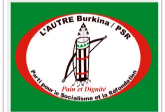 Déclaration de l'AUTRE Burkina/PSR à l'occasion de sa rentrée politique