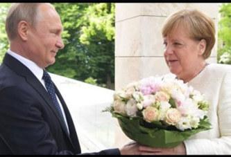 Poutine offre des fleurs à Merkel : voici les explications du Kremlin