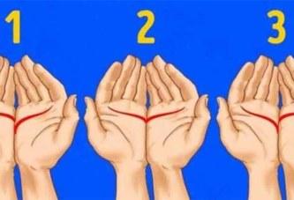 Joins tes deux mains et fais attention à ce petit détail: voici ce que ça signifie
