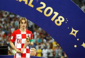 Coupe du monde: Luka Modrić élu meilleur joueur