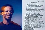 Il abandonne l'école en classe de 4è, mais ses textes sont étudiés au BAC