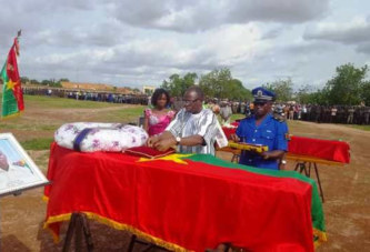 Burkina: Le douanier Jean De Dieu BADO et le policier  Aristide Bonzi inhumés au cimetière de Gounghin