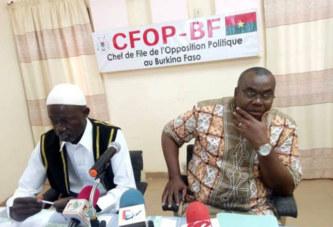 Situation nationale: « Nos braves militaires et paramilitaires sont en manque de matériels » (opposition)