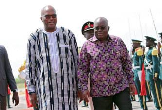 Coopération: le président du Faso à Accra