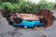 Côte d'Ivoire - Soubré: Un véhicule chute dans un trou béant en pleine chaussée