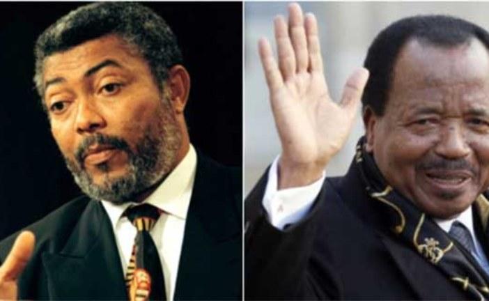 Ghana: L'ex-président Jerry Rawlings nie avoir appelé à l'éviction de l'autocrate camerounais Paul Biya