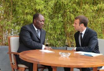 Côte d'Ivoire : Ouattara a quitté Addis-Abeba pour la France où il aura un entretien vendredi à l'Elysée avec Macron