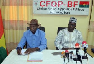 Opposition politique: «Dans certains pays, le président du Faso aurait été mis en accusation pour haute trahison… »
