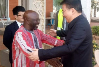 Visite  du  parti communiste chinois (PCC) au Burkina : Le vice-Ministre Yezhou GUO au Centre International de formation politique Kwamé N'hrumah du MPP.